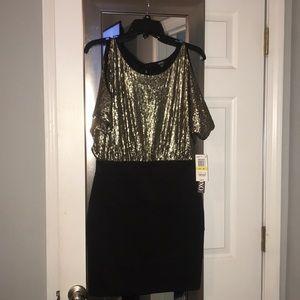Size Medium black and gold dress